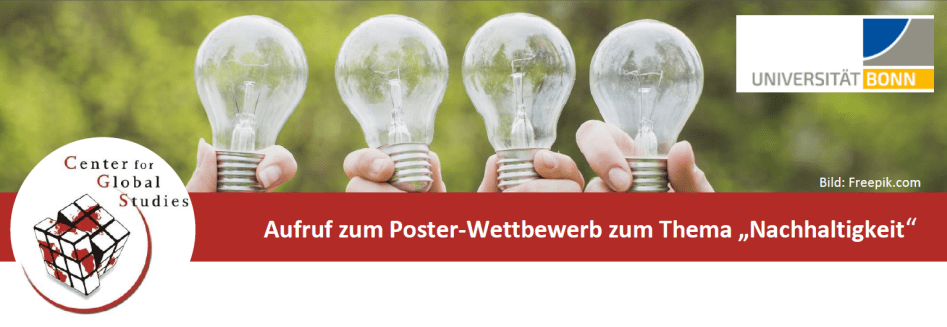 """Aufruf zum Poster-Wettbewerb zum Thema """"Nachhaltigkeit"""" der Universität Bonn"""
