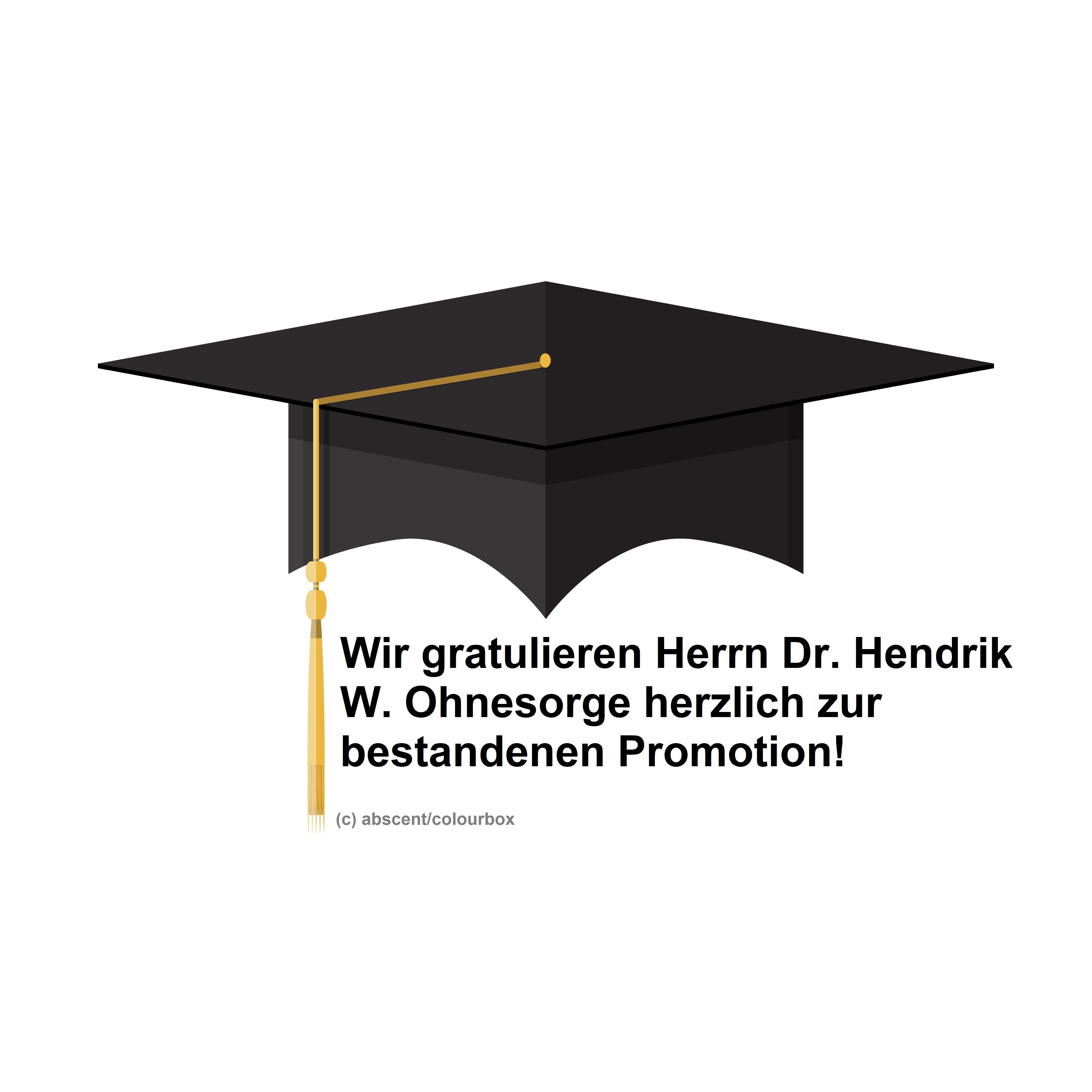 Das CGS gratuliert Herrn Dr. Hendrik W. Ohnesorge!